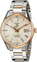 Tag Heuer Men's WAR215D.BD0784 Analog Display Swiss Automatic Two Tone Watch