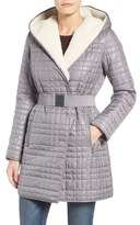 Kenneth Cole New York Women's Faux Shearling Lined Puffer Coat