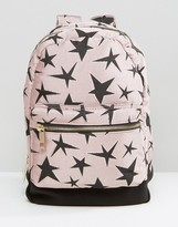 Asos LIFESTYLE Canvas And Scuba Star Backpack