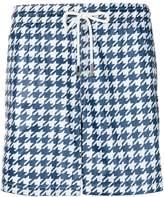 Eleventy houndstooth print swim shorts