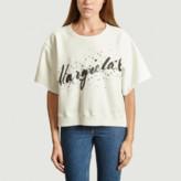 Maison Margiela White Logo Sweatshirt - xs | cotton | white - White/White