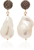 Joie Digiovanni DiGiovanni 18K Gold-Plated Sterling Silver, Diamond and Pearl Ear