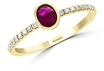 Bloomingdale's Bezel-Set Ruby & Diamond Ring in 14K Yellow Gold - 100% Exclusive