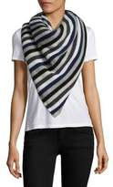 White + Warren Stripe Cashmere Travel Wrap