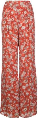 Alexis Yola floral-print wide-leg trousers