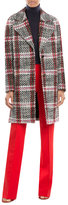 Carven Printed Virgin Wool Coat