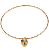 Annina Vogel Rose Gold Heart lock Charm Bangle