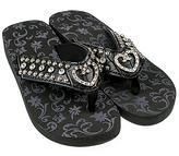 Black Crystal-Heart Sandal