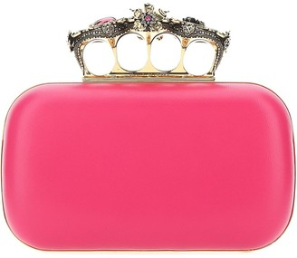 Alexander McQueen Embellished Four-Ring Clutch