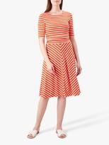 Hobbs Bayview Dress, Mango/White