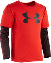 Under Armour Little Boys' Long-Sleeve Graphic-Print T-Shirt