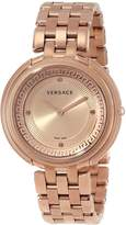 Versace Women's VA7050013 THEA gold stainless-steel band watch.