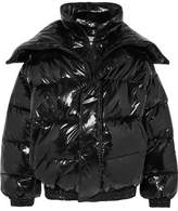 Vetements Oversized Layered Quilted Vinyl Jacket - Black