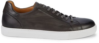 Magnanni Burnished Leather Sneakers