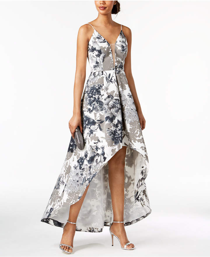 Adrianna Papell Printed High-Low Gown, Regular & Petite Sizes