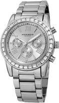 Akribos XXIV Womens Silver Tone Bracelet Watch-A-943ss