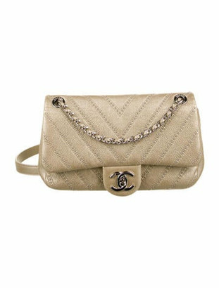 Chanel Small Chevron Stud Wars Flap Bag Metallic