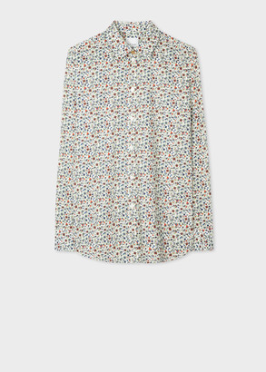 Paul Smith Women's Slim-Fit Cream 'Liberty Floral' Print Cotton Shirt
