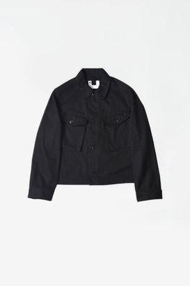 Margaret Howell Cropped Army Jacket Japanese Drill Black - L