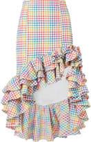 Caroline Constas Rainbow Ruffle Skirt
