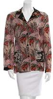 Valentino Floral Print Silk Top w/ Tags