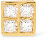 Ileana Makri Pixel 18-karat Gold Diamond Earring - one size