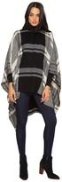 Vince Camuto Exaggerated Plaid Poncho Women's Clothing