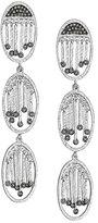 Coomi Spring Silver Three-Oval Diamond Earrings