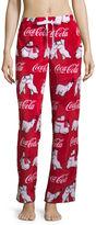 Asstd National Brand Coca Cola Polar Bear Plush Pajama Pants