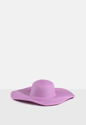 Missguided Lilac Oversized Floppy Hat