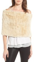 Dena Genuine Rabbit Fur Capelet