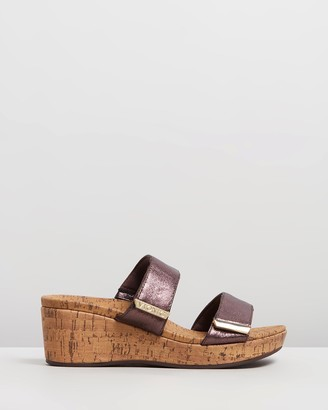 Vionic Women's Brown Wedges - Pepper Wedge Sandals - Size One Size, 10 at The Iconic