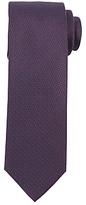 John Lewis Geo Semi Plain Woven Silk Tie, Navy/Burgundy