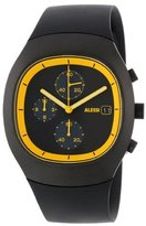 Alessi Unisex Automatic Watch with Black Dial Chronograph Display and Silver Plastic or PU Bracelet AL21011