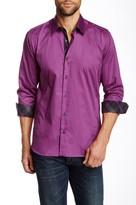 Jared Lang Plaid Long Sleeve Trim Fit Shirt