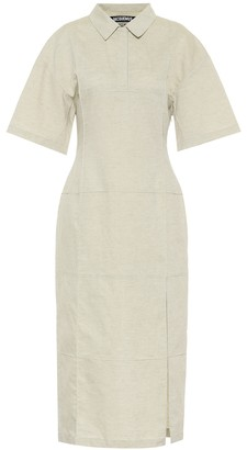 Jacquemus La Robe Carro cotton-blend midi dress