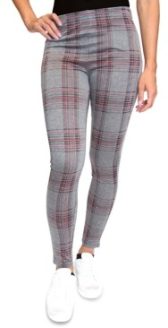 Almost Famous Juniors' Plaid Double-Knit Leggings