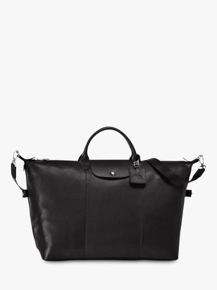 Longchamp Le Foulonne Extra Large Leather Travel Bag, Black