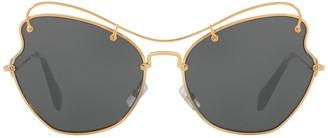 Miu Miu Butterfly 65mm Metal Frame Sunglasses