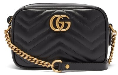 02c85a009fb3 Gg Marmont Mini Quilted Leather Shoulder Bag - ShopStyle