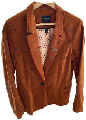 Maison Scotch Orange Cotton Jacket for Women