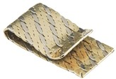 Tiffany & Co. 14K Yellow and White Gold Rope Design Money Clip
