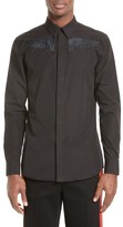 Givenchy Men's Extra Trim Fit Embroidered Wings Sport Shirt