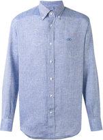 Salvatore Ferragamo classic shirt - men - Linen/Flax - M