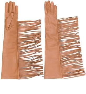 Manokhi fringed gloves