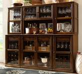 Pottery Barn Double Glass Door Cabinet