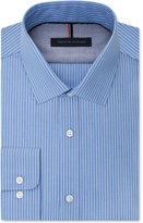 Tommy Hilfiger Men's Slim Fit Blue Stripe Dress Shirt
