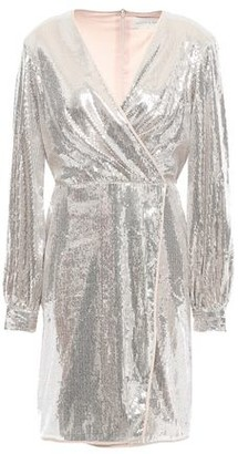Sachin + Babi Wrap-effect Sequined Tulle Mini Dress