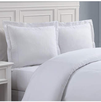 +Hotel by K-bros&Co Lux Hotel Baratta Embroidered Euro 2-Pack Pillow Shams Bedding