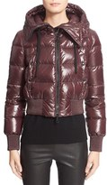Moncler Women's 'Sotiria' Water Resistant Shiny Nylon Down Bomber Jacket
